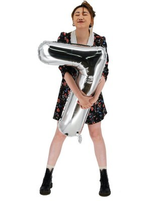 Extra Large size 40 Inch Inflatable Silver Balloon Number 7