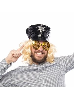 Shiny PVC Gay Cop Hat
