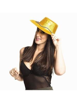Gold Glitzy Cowboy Hat