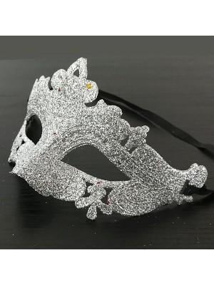 Glitzy Silver Masquerade Mask