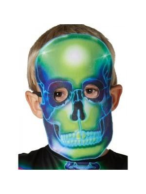 Glow In The Dark Neon Skeleton Kids Fancy Dress Costume