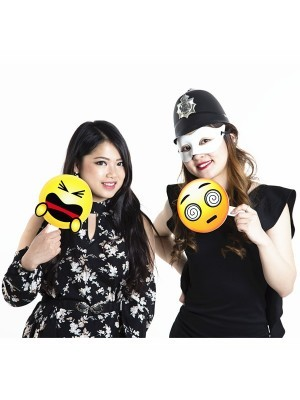 Dizzy Eye Emoji Photo Booth Prop