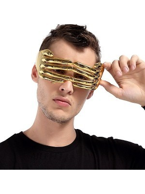 Gold Peeking Hands Glasses