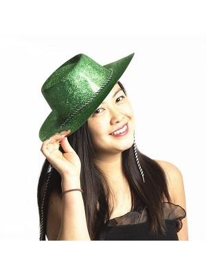 Green Glitzy Cowboy Hat