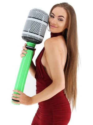 Inflatable Microphone Green