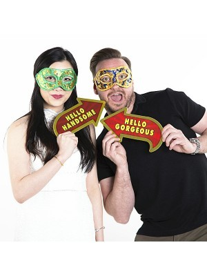 'Hello Handsome' Vegas Showtime Style Photo Booth Prop