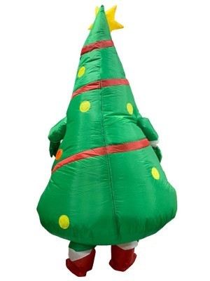 Happy Smiling Christmas Tree Inflatable Fancy Dress Costume