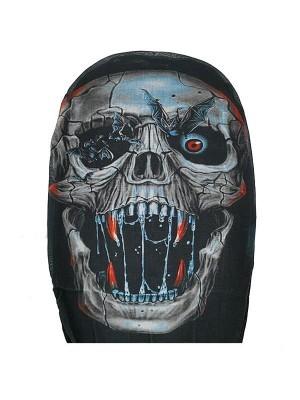 Skeleton Morph Mask Full Head Sock Halloween Fancy Dress Costume