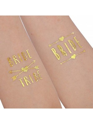 Hen Party Pack Of 12 Metallic Tattoo Pack
