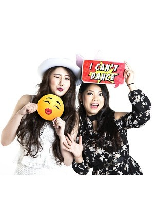 Kissing Emoji Photo Booth Prop