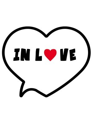 'In Love' Speech Bubble Valentine Photo Booth Prop