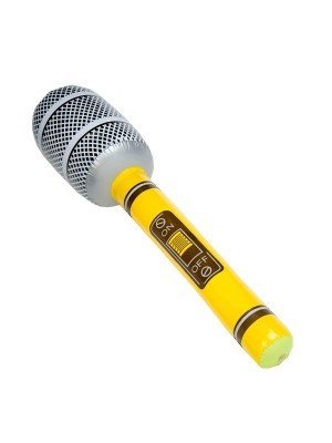 Inflatable Microphone Yellow
