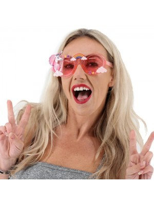 Jelly Pink Unicorn Rainbow Sunglasses