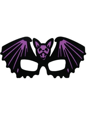 Kids Black Bat Shaped Halloween Mask