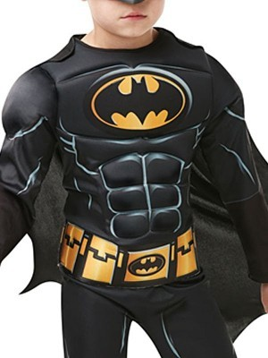 Kids Deluxe Batman Dark Knight Fancy Dress Costume