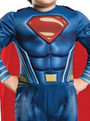 Kids Deluxe Superman Justice League Fancy Dress Costume Size S 3-4 Years