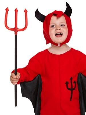 Red Devil Toddler Halloween Fancy Dress Costume - Kids UK Size 3 Years