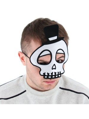 Kids Spooky Skeleton Head Shaped Halloween Mask