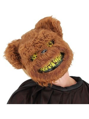 Killer Brown Teddy Bear Face Mask Halloween Fancy Dress Costume