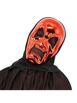 Killer Skeleton Red Grim Reaper Style Head Mask Halloween Fancy Dress Costume