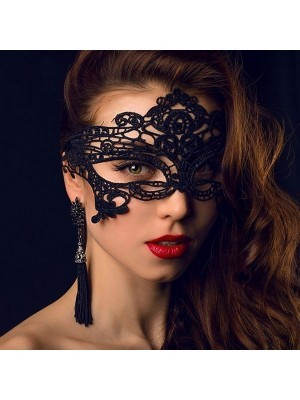 Enchanted Soft Lace Masquerade Mask in Black