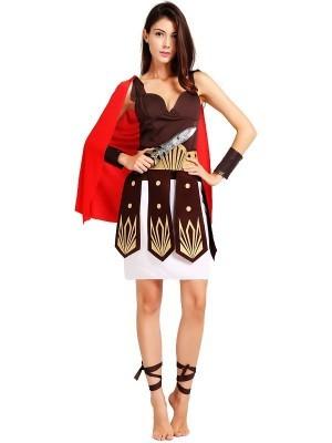 Ladies Roman Gladiator Fancy Dress Costume - One Size