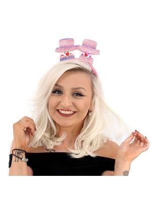 Top Hat Snowmen Light Up Christmas Headband