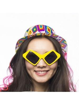 Yellow Square Eyes Sunglasses