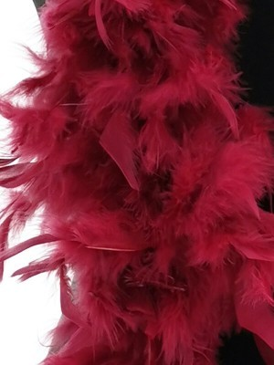 Deluxe Burgundy Red Wine Feather Boa – 100g -180cm