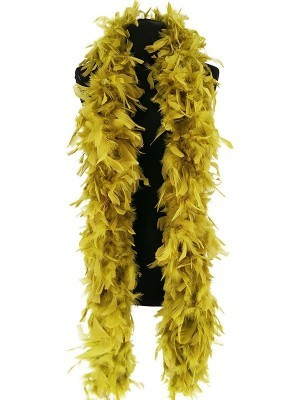 Luxury Olive Green Feather Boa – 80g -180cm