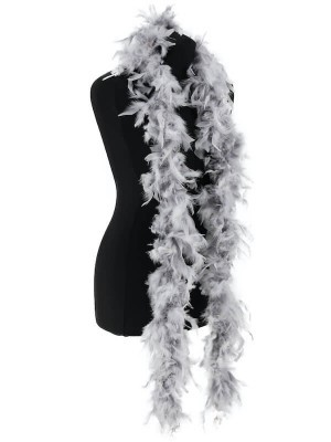Beautiful Silver Grey Feather Boa – 50g -180cm