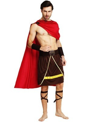 Male Roman Soldier Gladiator Fancy Dress Costume Style 2 – One Size