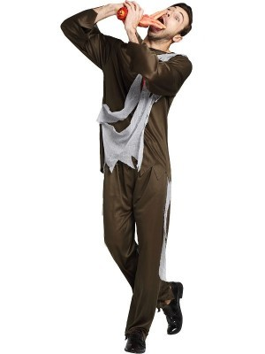 Male Shredded Army Medic Halloween Fancy Dress Costume – One Size