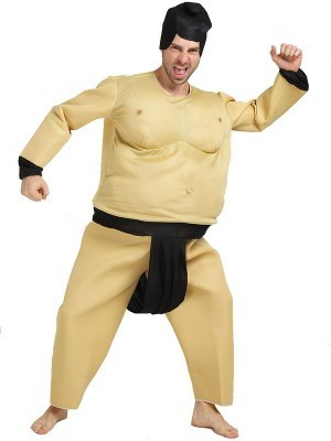Male Sumo Wrestler Fat Suit Fancy Dress Costume – One Size