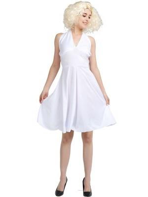 Marilyn Style Movie Star Fancy Dress Costume - One Size