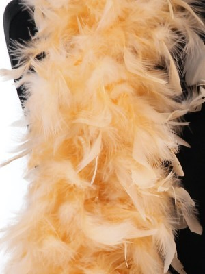 Luxury Mellow Peach Feather Boa – 80g -180cm