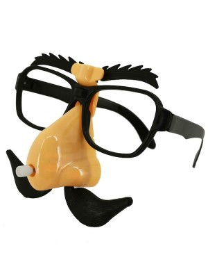Wiggling - Moving Disguise Glasses With Nose, Moustache & Eyebrow Set