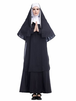 Holy Nun Fancy Dress Costume