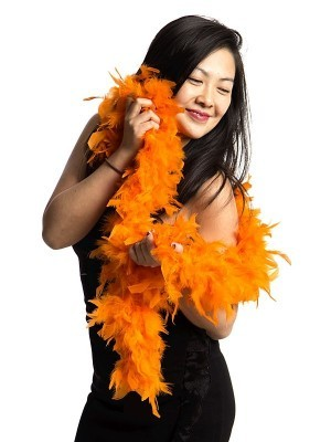 Luxury Orange Feather Boa – 80g -180cm