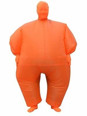 Orange Mega Morph Inflatable Sumo Suit Fancy Dress Costume