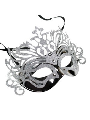 Ornate Masquerade Mask Silver
