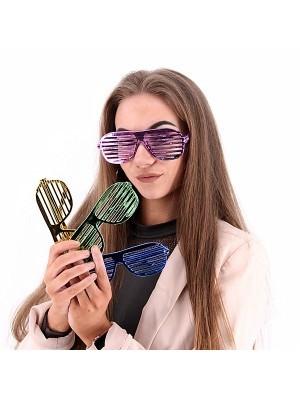 Pack Of 6 Round Shutter Sunglasses