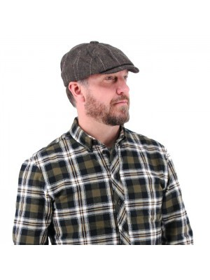 Peaky Shelby Baker Boy Flat Cap – Grey Tweed