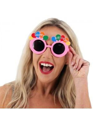 Pink Happy Birthday Rainbow Balloon Birthday Glasses
