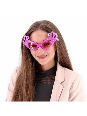 Pink Fancy Dame Edna Style Sunglasses