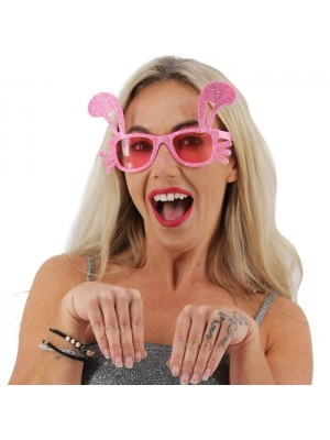 Glitzy Pink Bunny Ear Glasses