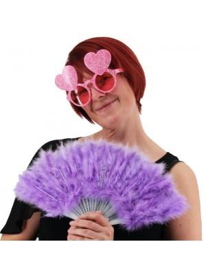 Stunning Light Purple Feather Fan