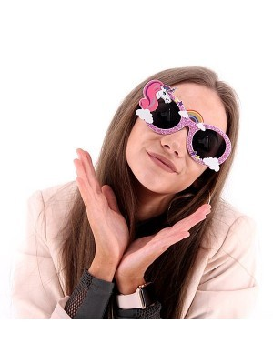 Pink Unicorn Rainbow Sunglasses