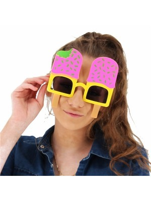 Pink & Yellow Ice Lolly Sprinkle Glasses