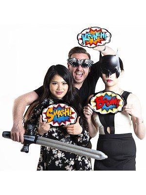 'Krunch!' Pop Art Style Photo Booth Prop